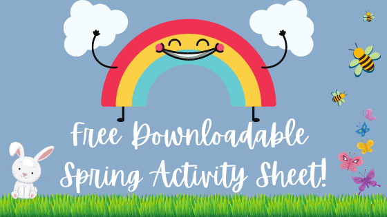 Free Downloadable Spring Activity Sheet!